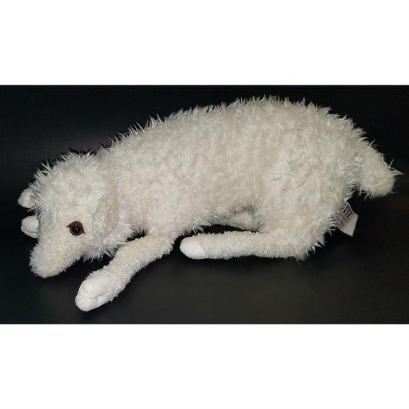 "Ditz Designs White Sheep Lamb Bean Bag Plush 16"""